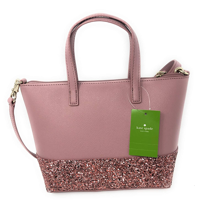Amazon.com: Kate Spade New York Ina Greta Court Glitter Crossbody Bag Top  Handle Handbag (Black): Shoes