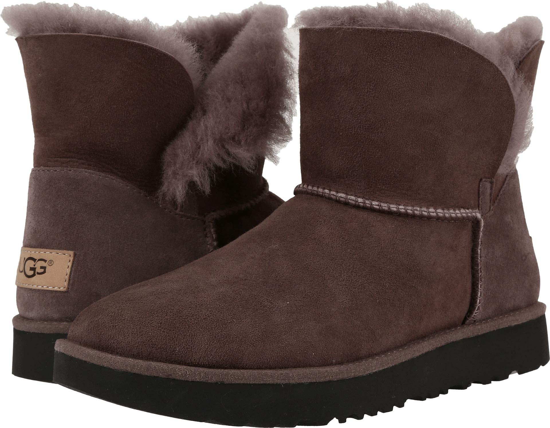 UGG Women's Classic Cuff Mini Winter Boot, Stormy Grey, 7 M US