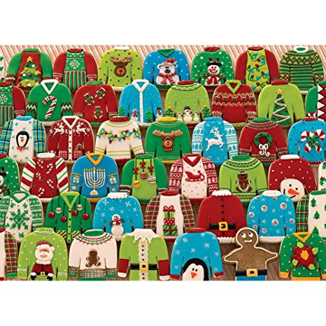 Cobble Hill , Ugly Xmas Sweaters, 1000,Piece Puzzle, Jigsaw