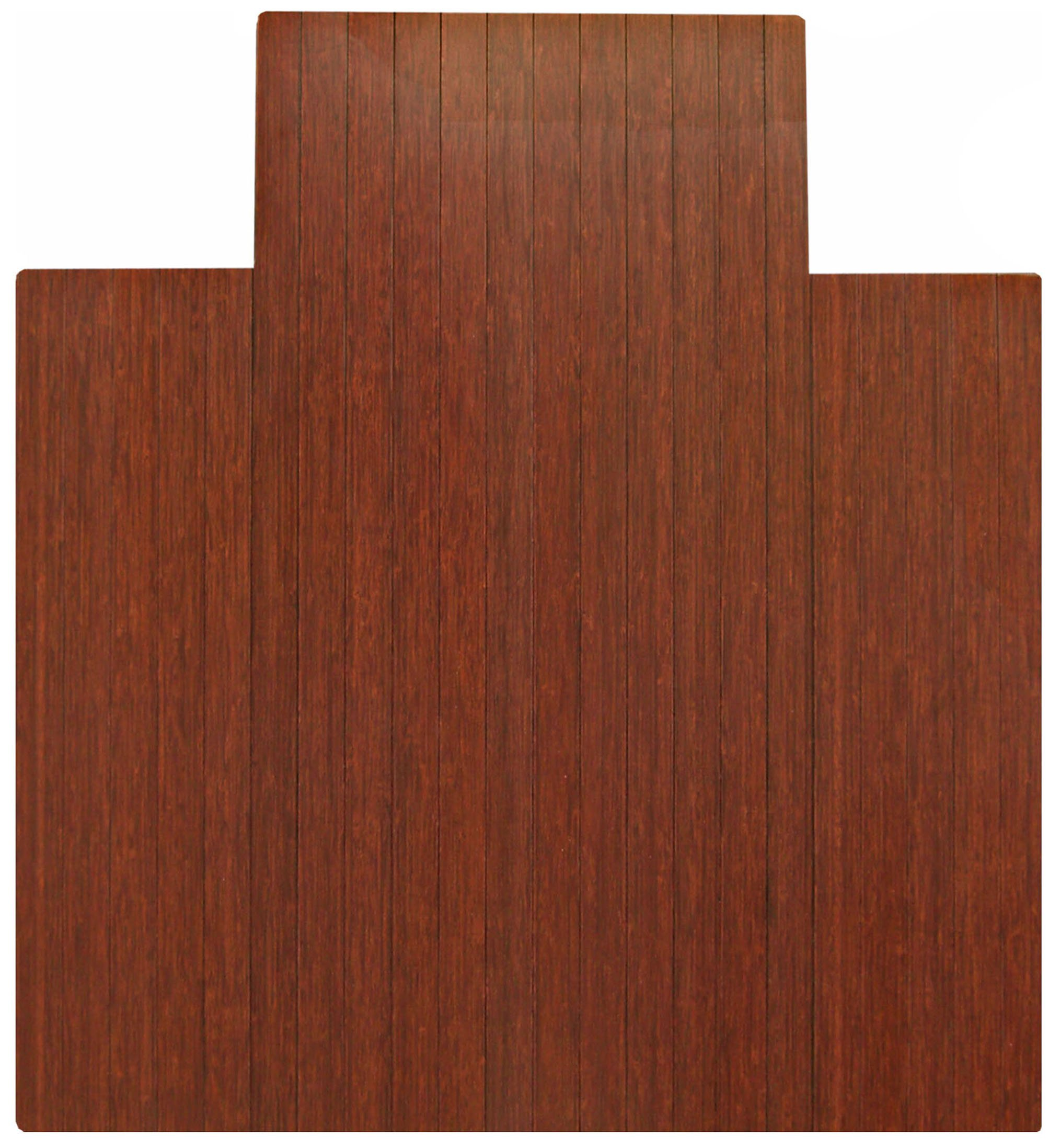 Anji Mountain AMB24006 Bamboo Roll-Up Chair Mat with Lip, Dark Cherry, 44 x 52, 5mm Thick