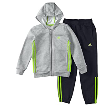 adidas Performance Kinder, Jungen Trainingsanzug grau 110