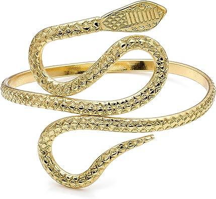 Gold Gravur Schlange Oberarm Armreif: : Schmuck