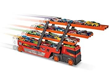 EnfantGhr48 Méga Wheels Jusqu'à Hot Transporter TransporteurCamion 50 Petites VoituresJouet Pour 80OkXZNwnP