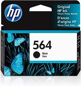 HP 564   Ink Cartridge   Black   Works with HP DeskJet 3500 Series, HP OfficeJet 4600 5500 C6300 6500 7500 Series, B8550, D7560, C510, B209, B210, C309, C310, C410, C510   CB316WN