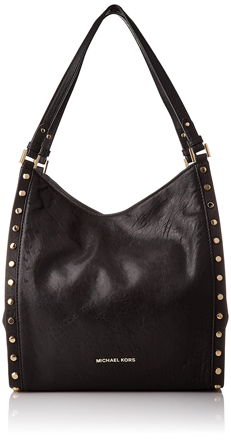 3700fda9256215 Amazon.com: MICHAEL Michael Kors Newbury Medium Chain Shoulder Tote (Black  Stud): Shoes