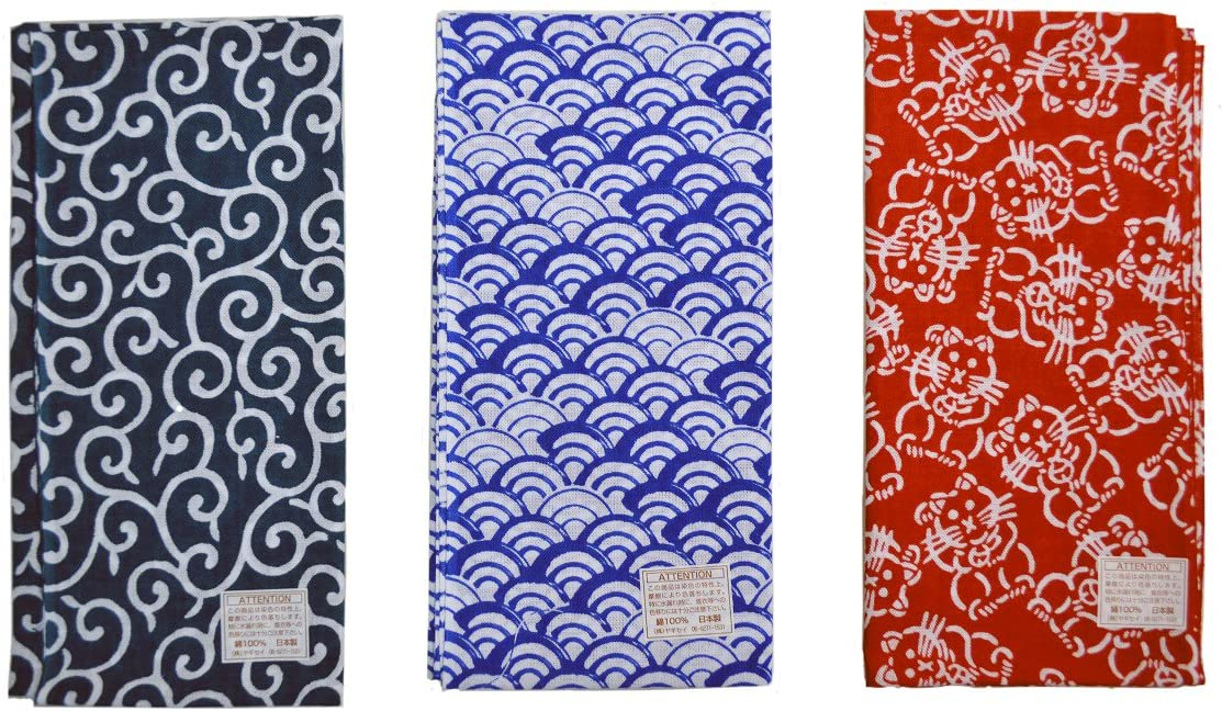 Japanese traditional towel TENUGUI SAME KOMON NEW COTTON MADE IN JAPAN