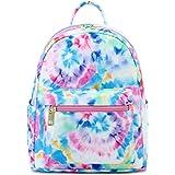 Girls Mini Backpack Womens Small Backpack Purse Teens Cute Tie Dye Travel Backpack Casual School Bookbag (Blue)