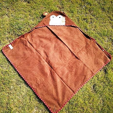 Suave y acogedor Niños Mono Impreso Toalla de algodón Con capucha Albornoz Manta Playa Baño Toalla