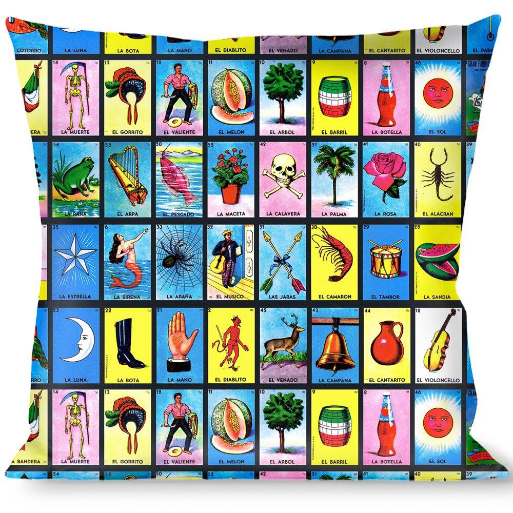 Buckle-Down Throw Pillow-Loteria Blocks, Bingo