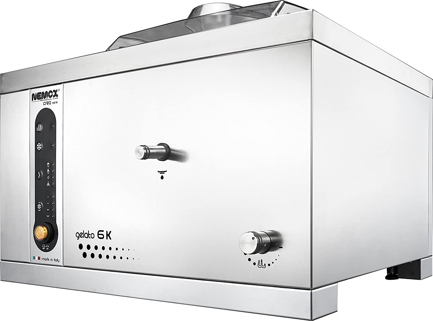 "Nemox Pro 6K Crea Fully Automatic Commercial Tabletop Gelato/Ice Cream Maker with Conservation, 20.9"" Length"