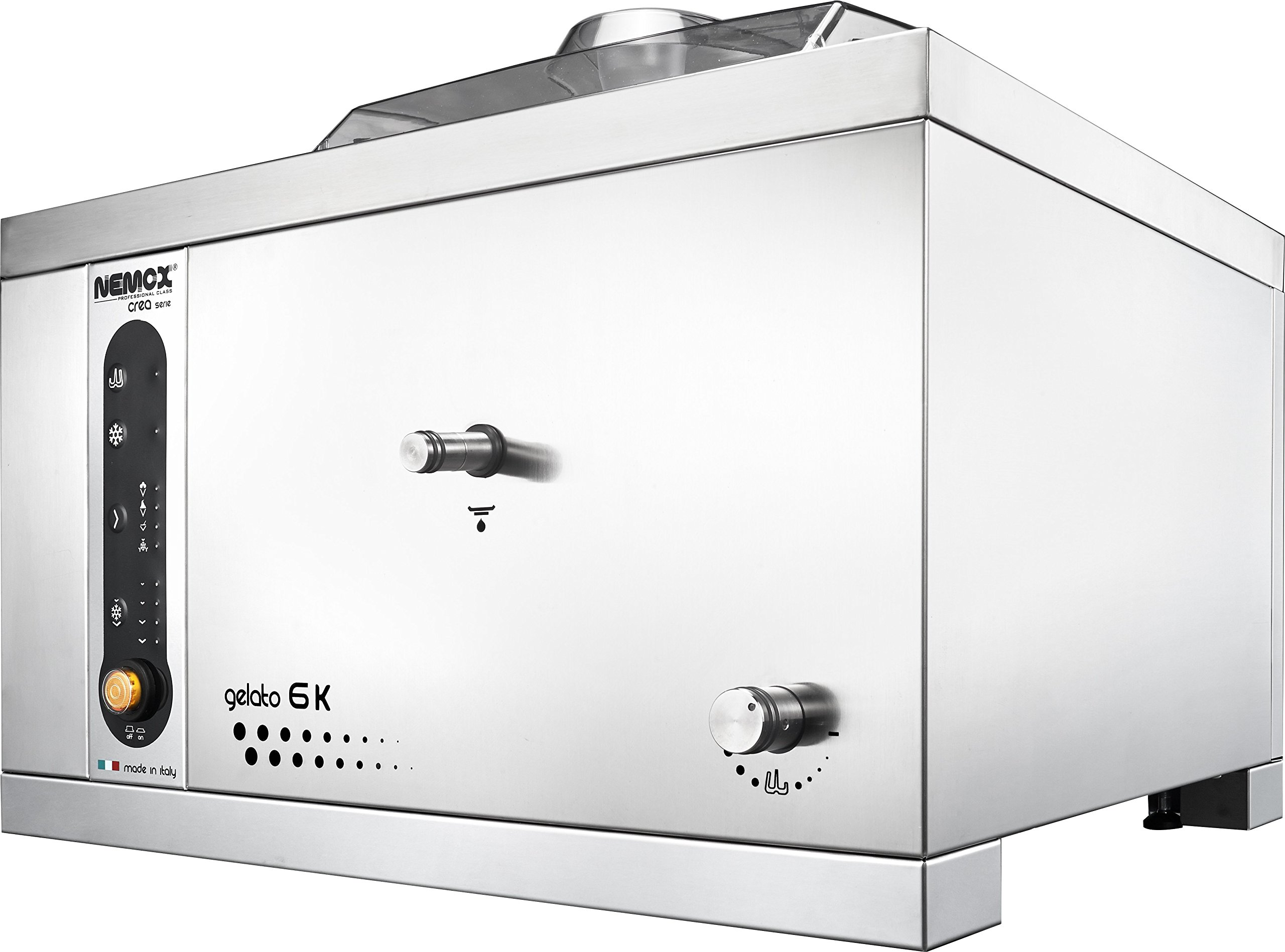 Nemox Pro 6K Crea Fully Automatic Commercial Tabletop Gelato/Ice Cream Maker with Conservation, 20.9'' Length