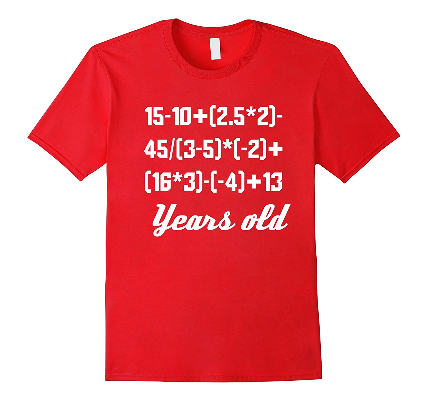 30 Years Old Algebra Equation Funny 30th Birthday Math Shirt-Vaci
