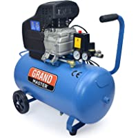 Grandmaster - Compresor De Aire De 50 Litros 220V, 206L/Min, 1500W, 8 Bares/116psi, Filtro De Aire, Velocidad 2850/Min…