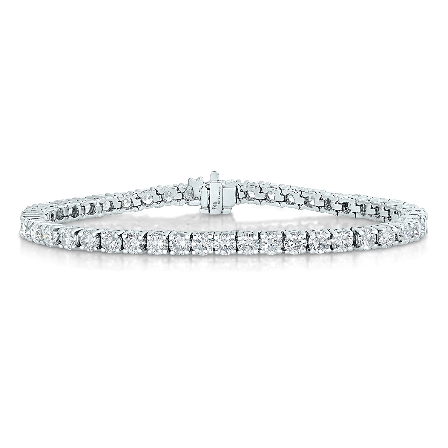 Amazon 2 CT SI2 I1 Clarity AGS Certified Diamond Bracelet 14K