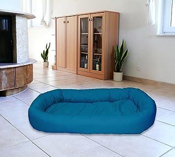 Cama Ovalada meggi perro (Talla M 70 x 90 Perros sofá Dormir Espacio Soft cama color: turquesa nº 25: Amazon.es: Productos para mascotas