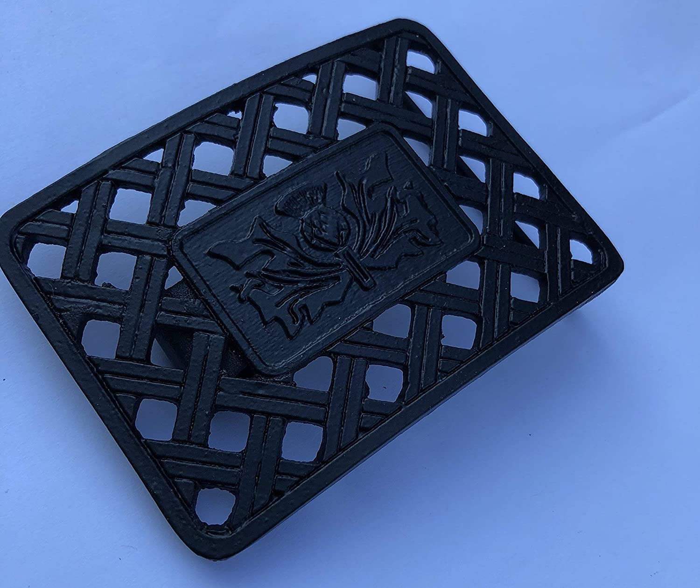 SCOTTISH THISTLE ANTIQUE BLACK DESIGN KILT BELT BUCKLE