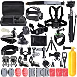 Accessories for Gopro, ccbetter Action camera mounts for Gopro Hero 4 Hero 5 Session Hero 1 2 3 3+ for most of sports camera With Case (Black)