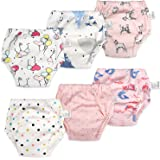 MooMoo Baby 6 Packs Cotton Training Pants Reusable Toddler Potty Training Underwear for Boy and Girl 12M-5T