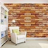 100yellow 3D Brick Texture Print Peel and Stick Self Adhesive Vinyl Decal Wallpaper, 26.7 sq. ft (Multicolour)