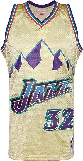 Mitchell & Ness Swingman Utah Jazz Malone Camiseta sin Mangas Gold