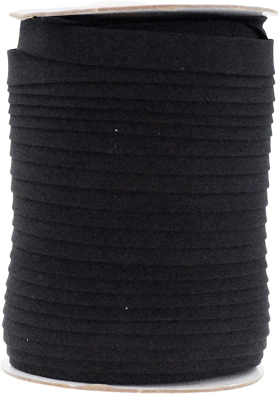 "Pre-Folded Binding Tape Sewing Seams and More White or Black Sewing Bias Tape Sewing Hemming White Bias Tape for Quilting Bias Binding 0.5/"" Diameter 55 Yards Long Fold Bias Tape"