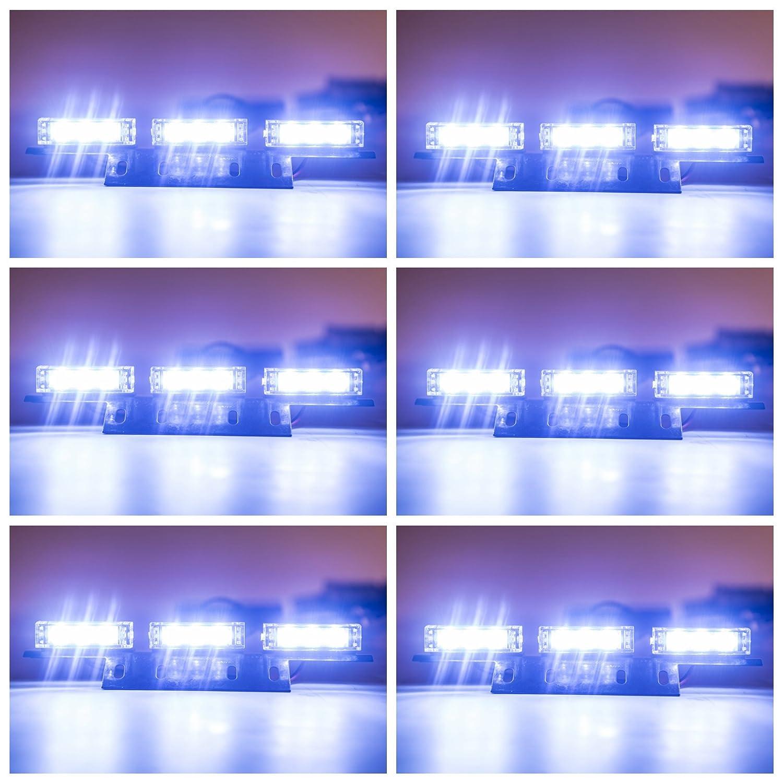 4347594353 Orion Motor Tech 54 LED Emergency Service Car Truck Vehicle Strobe Warning Light//Lightbars for Deck Dash Grill Windshield Headliner White