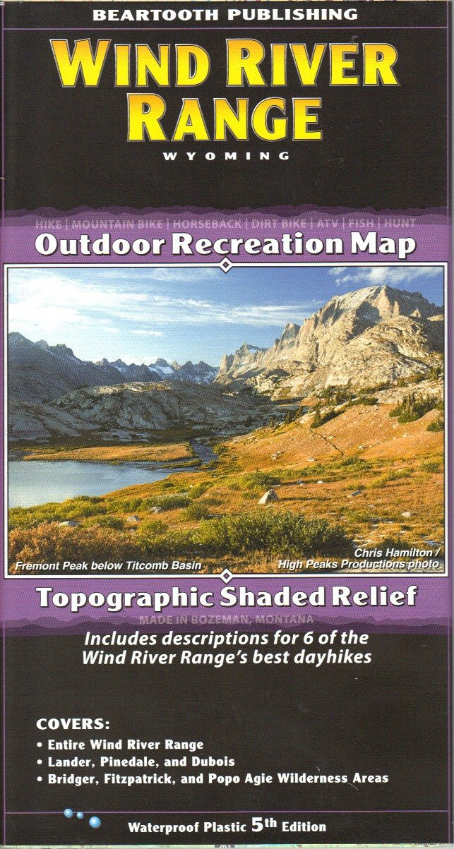 Amazon Beartooth Publishing Wind River Range Trail Map