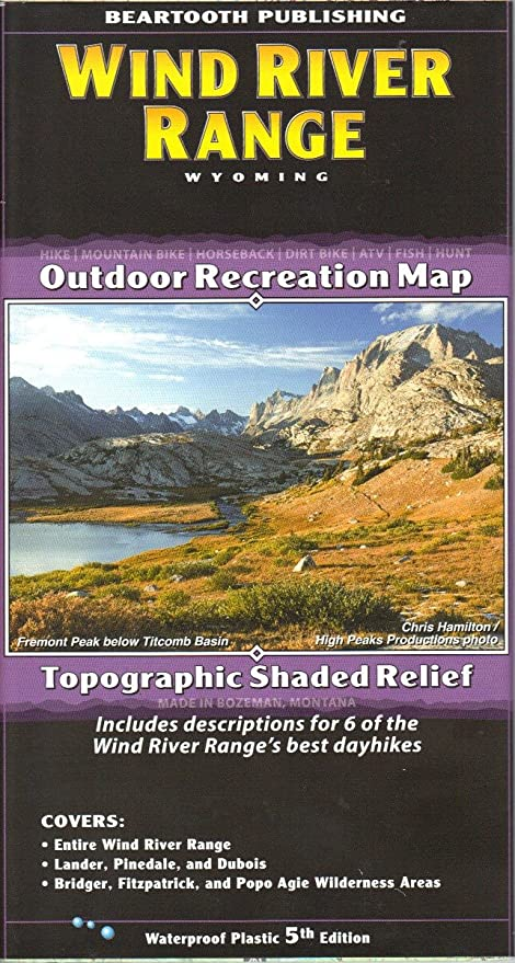 Wind River Range Wyoming Map.Amazon Com Beartooth Publishing Wind River Range Trail Map