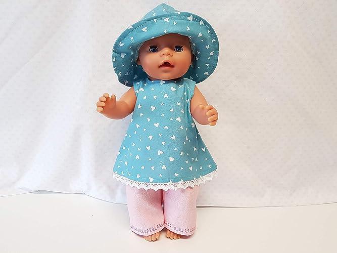 Kleidung & Accessoires MepsiDesigns Handmade Puppenkleidung Set 3tlg für 43cm Baby Born NEU