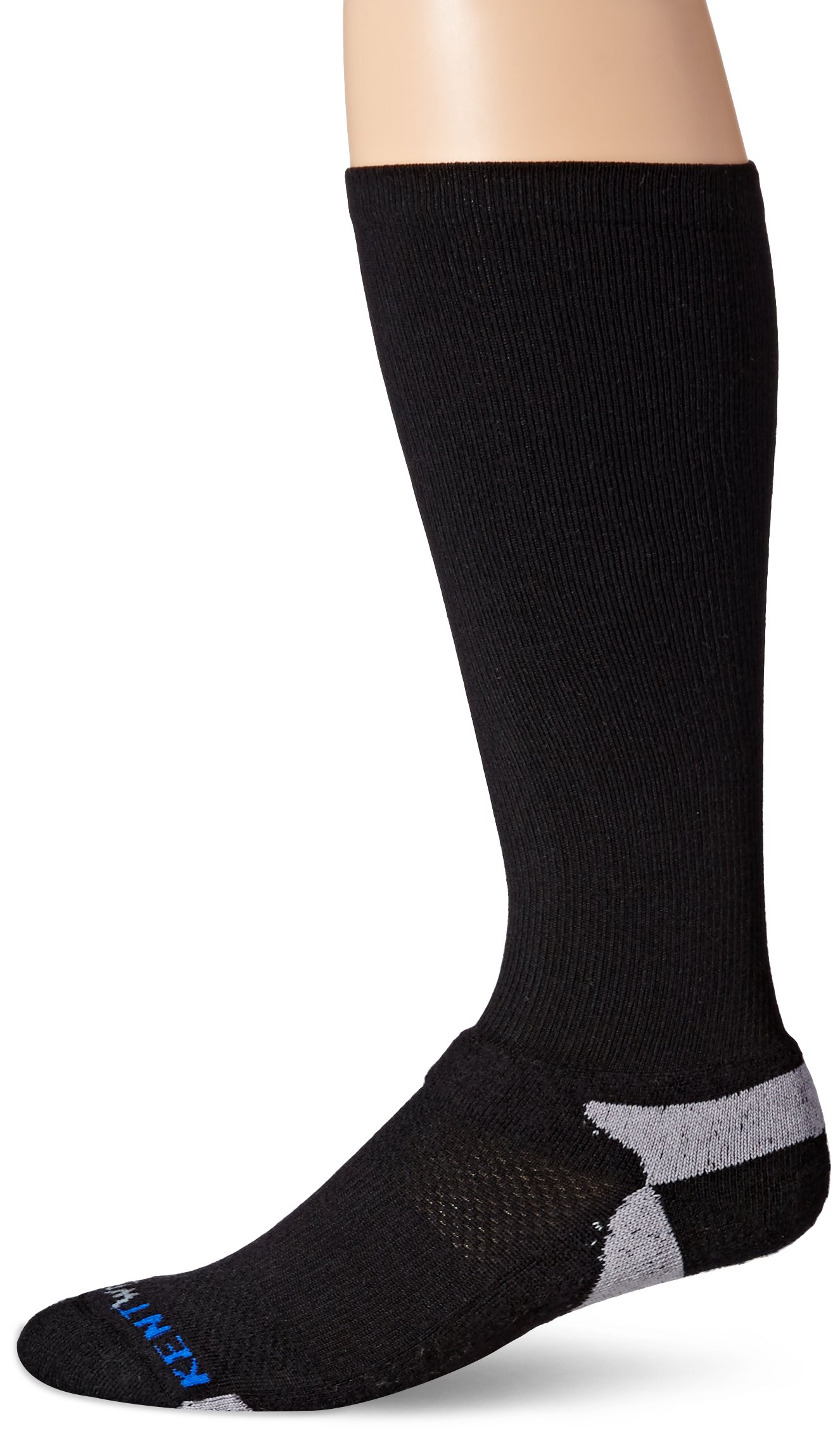 KENTWOOL Men's The Graduate Compression Sock (Black, Large) by KENTWOOL