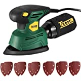 """Mouse Detail Sander, TECCPO Electric Sander Small 1/4"""" 1.1 Amp/14,000 OPM Corded Sander with12Pcs Sanding Paper, Dust…"""