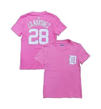 promo code 6bb86 bd69d Amazon.com: J.D. Martinez Detroit Tigers Girls Youth Pink ...