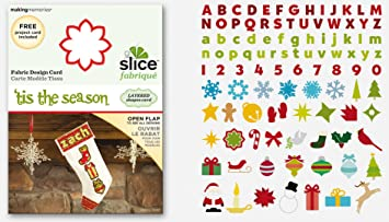 Amazon Com Making Memories Slice Fabrique Design Card Tis The Season