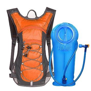 Unigear Mochila Hidratación Mochila Tactica Running Trail con 2L Deposito De Agua Desmontable Bolsa De Agua Múltiples Almacenamiento Compartimiento para ...