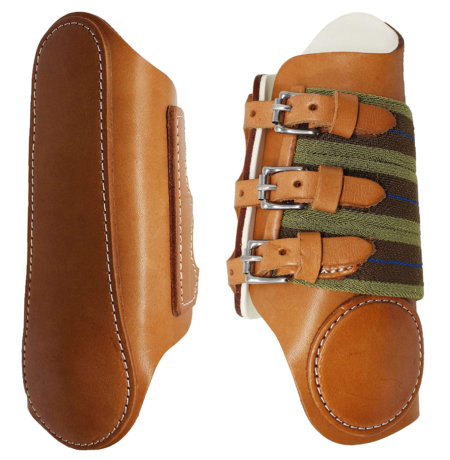 Horse Equineレザースポーツ医学SplintブーツアーミッシュMade in USA Tack 4121   B07259BTBY