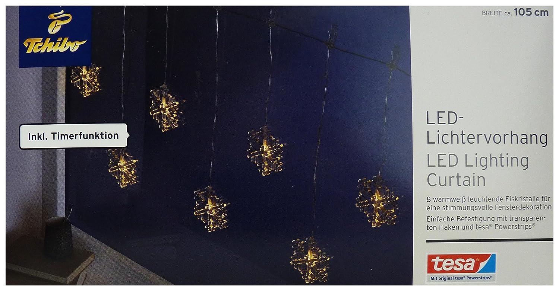 TCM Tchibo LED Lichtervorhang Lichterkette Weihnachten Deko Licht ...