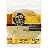 La Tortilla Factory High Fibre Large Whole Wheat Tortillas, 8-Pack of Non-GMO Tortillas, 496gm