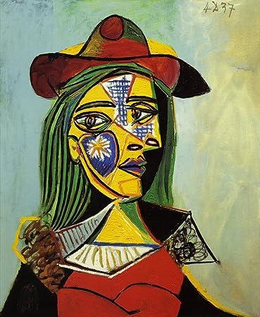 Amazon.com: Femme au chapeau et col en fourrure by Pablo Picasso.100 ...
