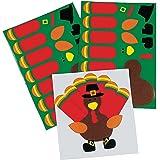 Make-A-Turkey Stickers - Kids' Stationery & Stickers