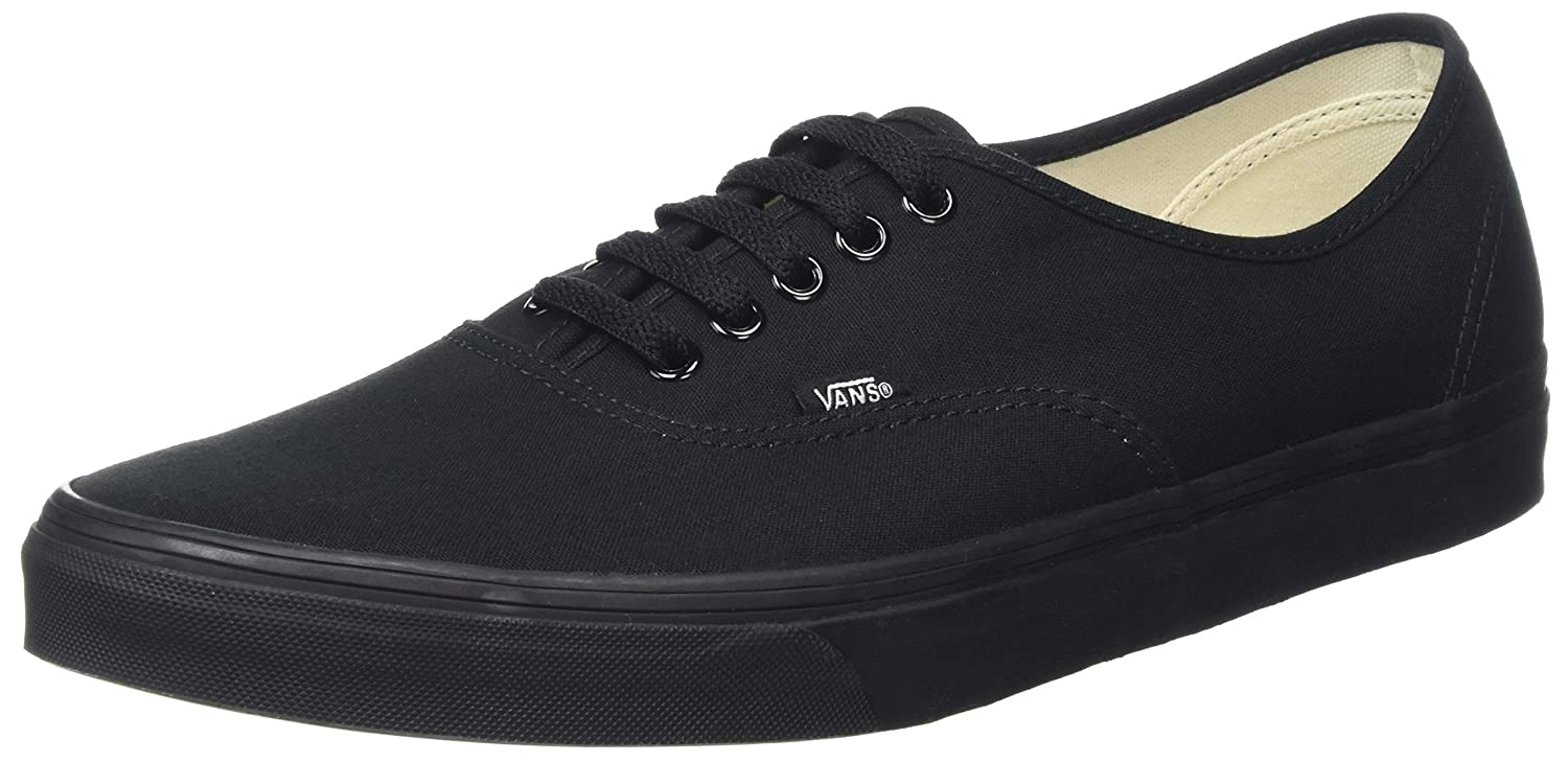 Vans Authentic, Zapatillas de Tela Unisex 10 US|Negro