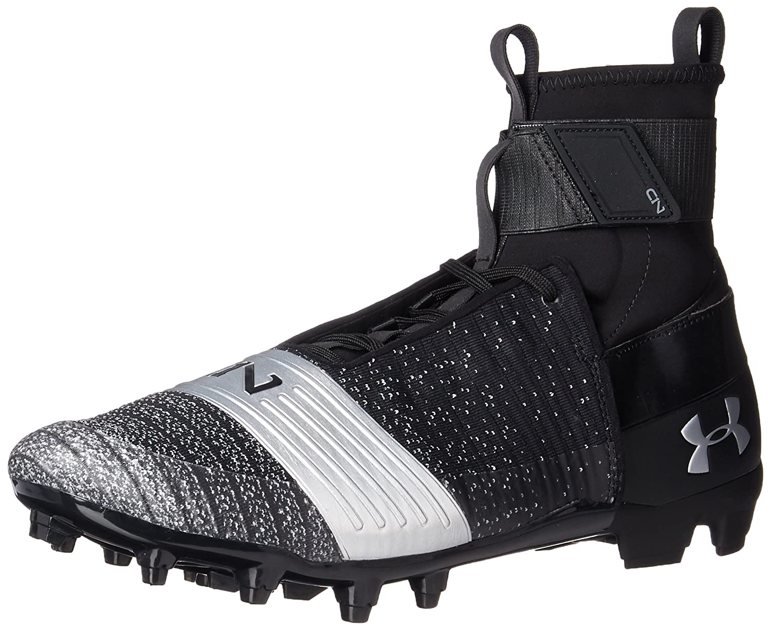 Under Armour メンズ 3000175 B072FR3X8P 7.5 D(M) US|Black (001)/Metallic Silver Black (001)/Metallic Silver 7.5 D(M) US