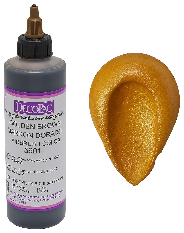 DecoPac Airbrush Color, Golden Brown, .65 Pound