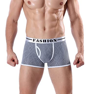 6ae53364acf Men Boxer Soft Breathable Underwear Male Comfortable Solid Panties  Underpants Boxershorts Homme for Men