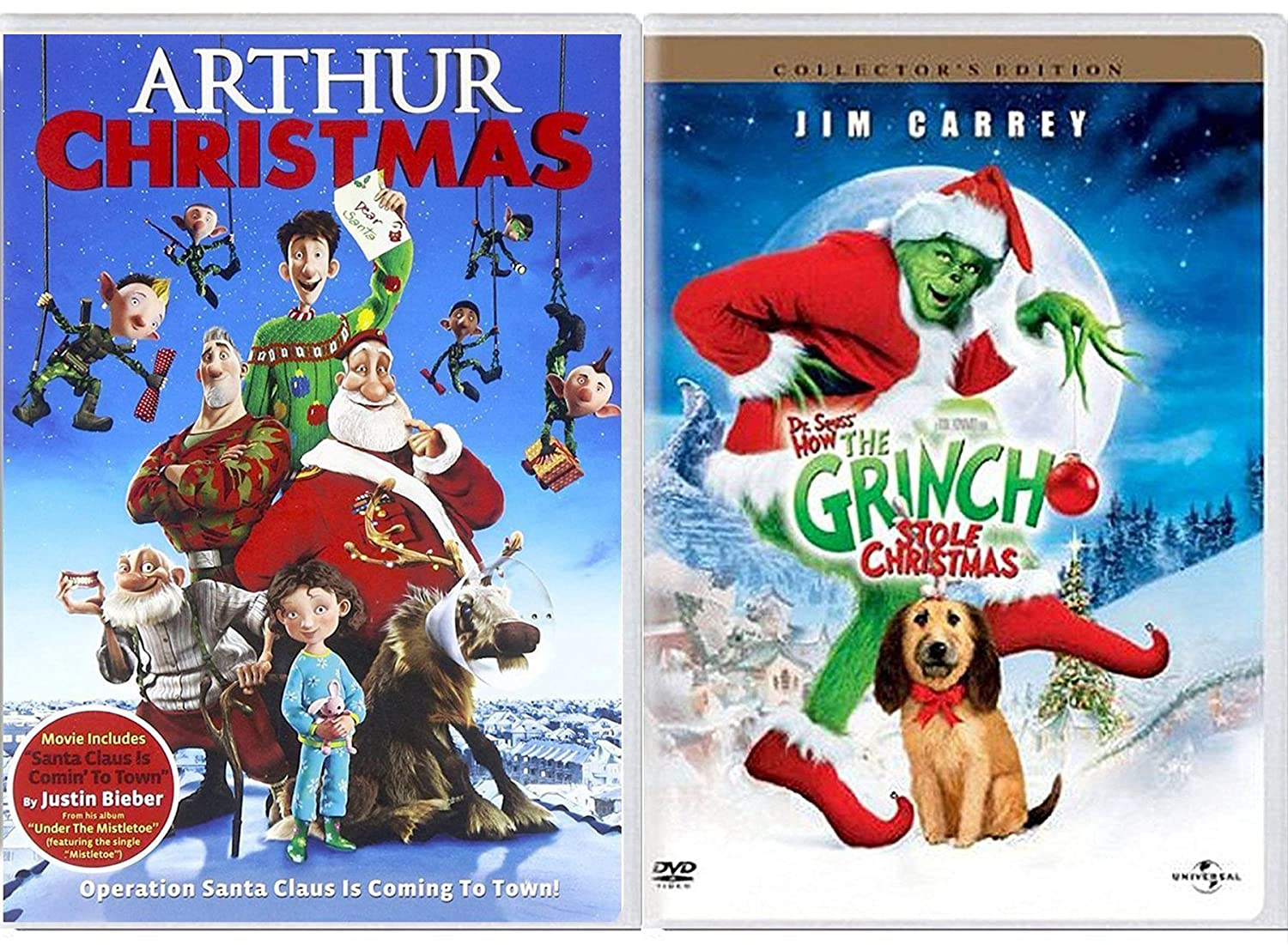 How The Grinch Stole Christmas Movie Characters.Amazon Com Arthur Christmas Operation Santa Double Feature