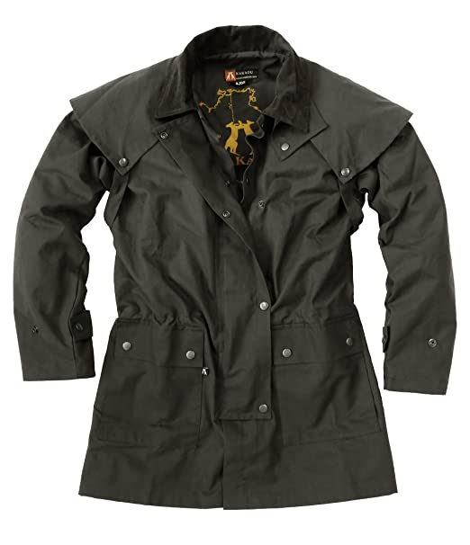 Kakadu Australia Cowboy Saddle Slicker Rain Jacket Duster –Workhorse Half Length Unisex