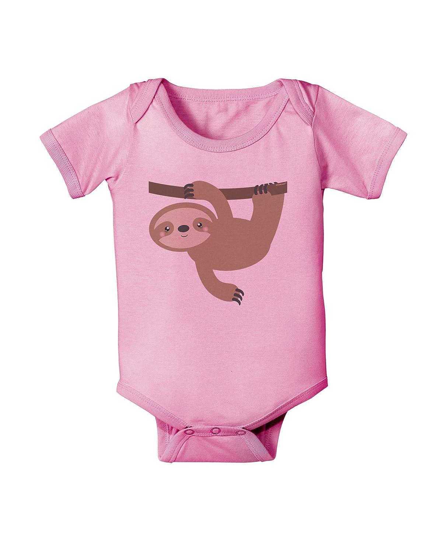 TooLoud Cute Hanging Sloth Baby Romper Bodysuit