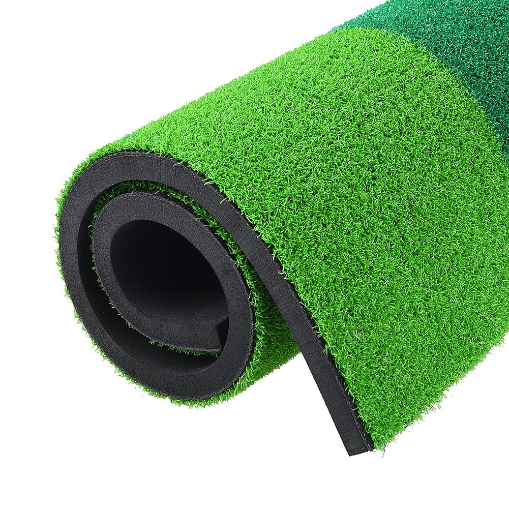 RUNACC Portable Golf Hitting Mat Residential Practice Hitting Mat Mini Golf Hitting Pad with Tee, Suitable for Golf, Green by RUNACC (Image #7)