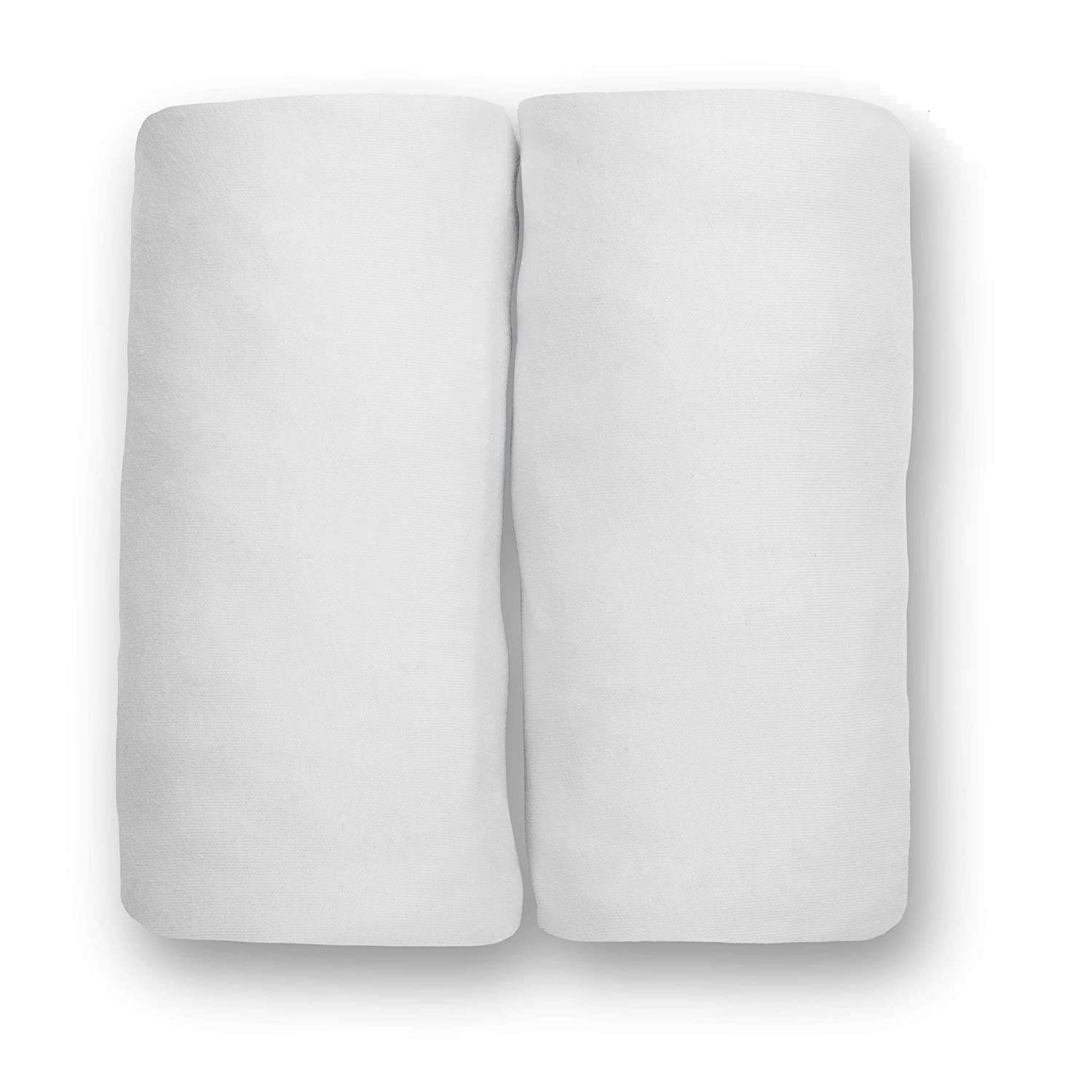 Delta Children Changing Pad Covers - 2 Pack | Solid Color | 100% Jersey Knit Cotton | Fits Standard Changing Pads, White