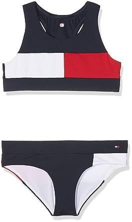 fdf90c2227 Tommy Hilfiger Girl s Bralette Bikini Set Swimwear