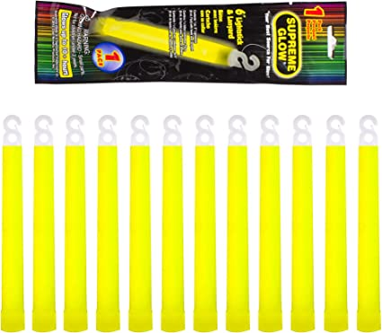 Windy City Novelties Industrial Grade 12 Hour Illumination Emergency Safety Chemical Light Glow Sticks 24 Pack Red Be Ready Red Glow Sticks